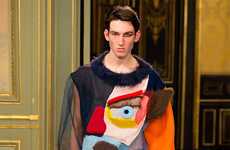 Cubism-Themed Knitwear Collections - This Walter Van Beirendonck Collection Makes a Social Statement