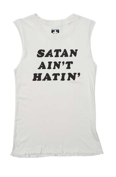 Satanic Muscle Tanks - This Tank by Petals and Peacocks Reveals that Satan is Just Misunderstood
