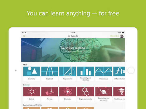 Personalized Video Learning Apps - The Updated Khan Academy Distance Education App is Individualized