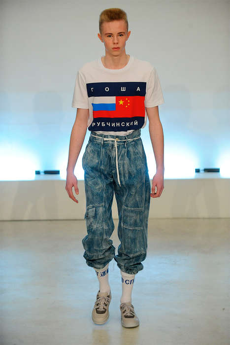 Nostalgic Normcore Fashion - The Latest Gosha Rubchinskiy Runway Show is an Homage to the 90s