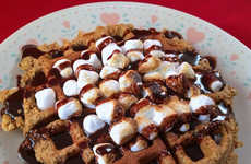 Campfire Treat Waffles - This Sweet Waffle From The Vulgar Chef is One Part S'more One Part Waffle