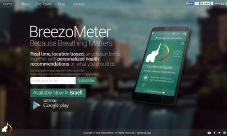 Air Quality Apps - The BreezoMeter App Monitors Pollution Levels and Recommends Lung-Safe Activities