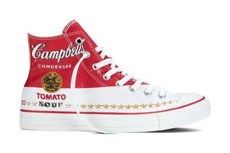 Artist-Inspired Sneakers - These Printed Andy Warhol Shoes Combine Artwork with Converse Trainers