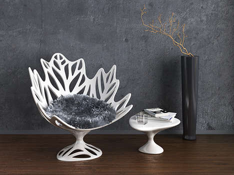 Skeletal Foliage Seating - A Sculptural Leaf Chair Naturally Unifies Organic and Contemporary Styles