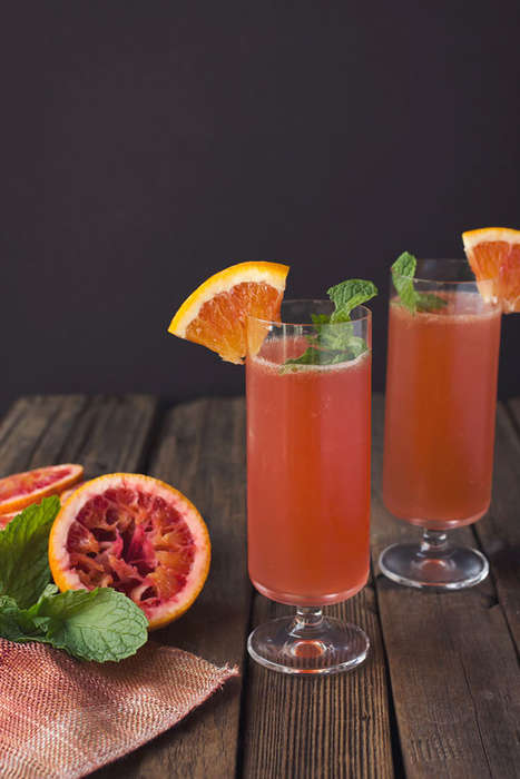 Seasonal Citrus Libations - This Blood Orange and Bourbon Cocktail is an Easy to Recreate Recipe