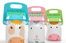 Bovine Dairy Branding - Animal Yogurt Packaging is Visually Appealing and Totally Playful for Kids