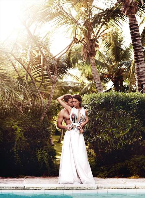 Steamy Honeymoon Editorials - Cameron Russell and Luke Grimes Star in the Vogue US February Issue