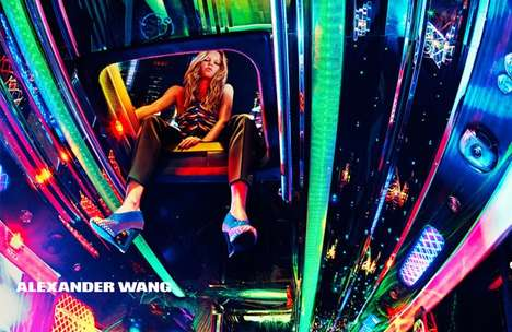 Neon Nightlife Campaigns - The Latest Alexander Wang Collection is Carefree and Youthful