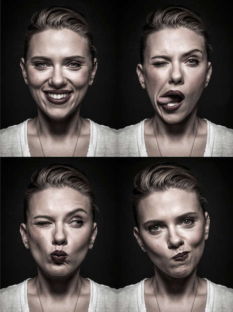 Silly Celeb Photo Series - Andy Gotts Takes Spontaneous and Endearing Portraits of Celebrities