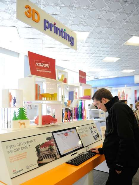 3D Printing Stations - Staples Teams Up with 3D Systems to Offer 3D-Printing In-Store