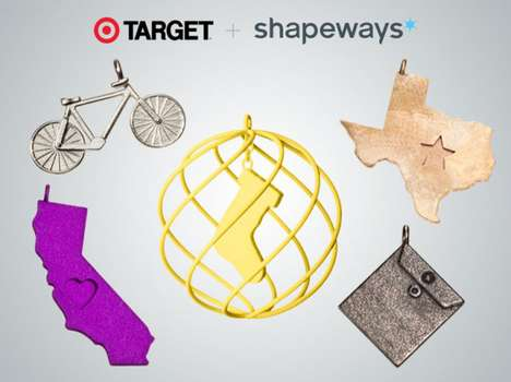 Customizable Retail Gifts - Shapeways x Target's 3D-Printed Gifts Provide Personalization