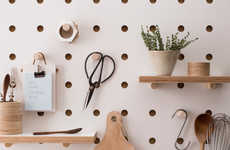 Chic Pegboard Shelving