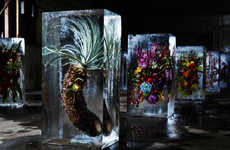 Azuma Makoto Suspends Fresh Blooms in Blocks of Ice