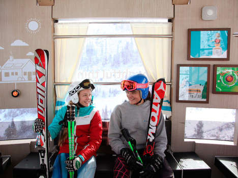 Comfy Furnished Chairlifts - This Living Room Gondola Gives Skiers a Warm Ride Up the Mountain