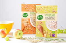 Organic Oatmeal Packaging - 4LIFE's Organic Food Packaging Embodies Vibrant Clean Eating