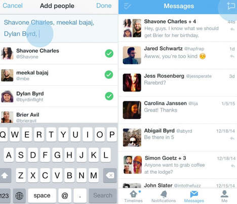 Group Direct Messages - Twitter Launches Private Messaging Features for Multiple Followers
