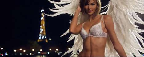 Jetsetting Angel Ads - This Victoria's Secret Super Bowl Ad Features Angels Around the World