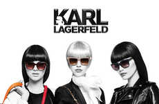 Color Splash Fashion Ads - The Latest Karl Lagerfeld Campaign Stars Kendall Jenner