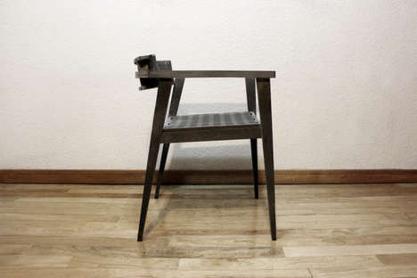 Valchromat Cut-Out Chairs - Lindavista by Rodrigo Osornio is Strong and Industrial
