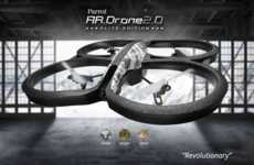 Sleek Helicopter Drones - The AR Drone 2.0 Elite Edition is Controlled by a Smartphone