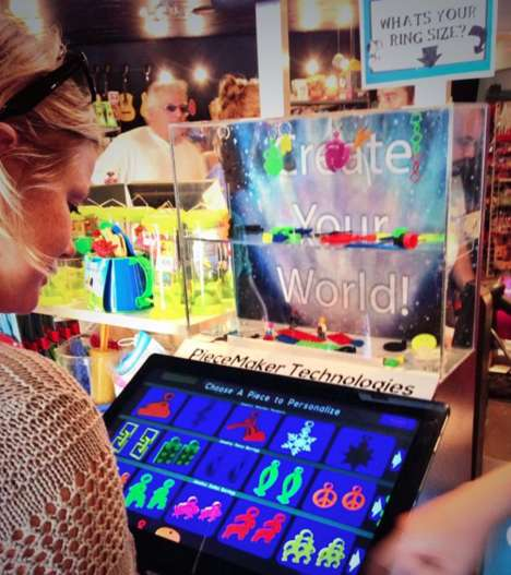 Toy-Creating Kiosks - PieceMaker's 3D Printing Booth Dispenses Tiny Customized Toys