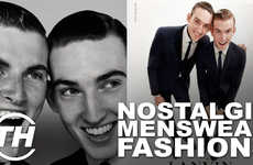 Nostalgic Menswear Fashions - Editor Jana Pijak Discusses Her Top Picks for Throwback Menswear Style
