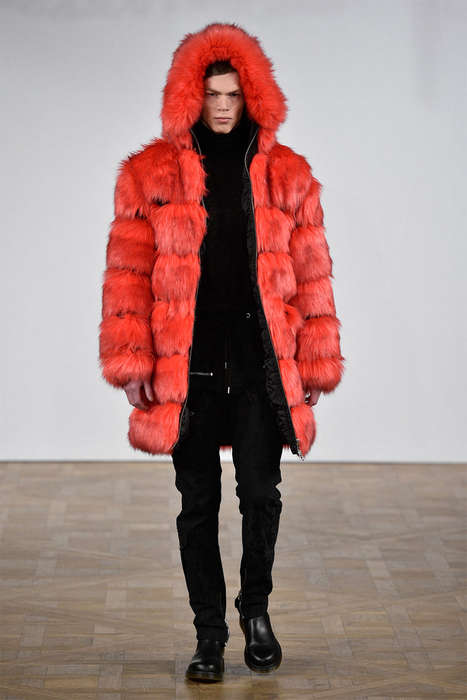 Fur-Clad Streetwear Collections - The Latest Asger Juel Larsen Menswear Show Celebrates Texture