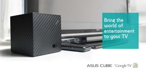 Media-Streaming Cubes - The ASUS Cube with Google TV Makes Cord Cutting Easy