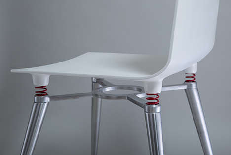Tipsy Task Chairs - This Spring-Framed Chair Offsets the Drunken Sway of the Sitter