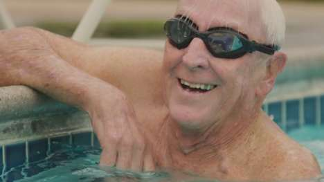 Senior Swimming Campaigns - Speedo's Fueled by Water Campaign Stars a 91-Year-Old Masters Swimmer