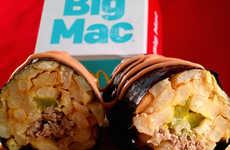 Sushi-Inspired Burger Rolls - The Vulgar Chef Turned His McDonalds Big Mac Into Burger Sushi Rolls