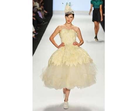 Feather Wedding Dress KnockOffs Project Runway Copies Alexander McQueen