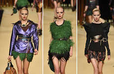 40s Ostrich Feathers on Runways - Louis Vuitton Spring RTW in Paris