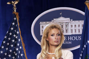'Paris Hilton for President' Platform in Harper's Bazaar