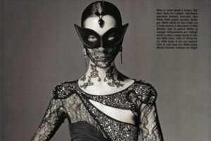Vogue Italia's Black Widow Couture