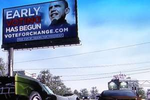 Obama Billboard in 'Burnout Paradise'