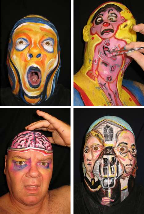Moving Face Paintings