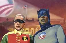 Batmobama and Robiden - Partisan Political Cartoon Prints
