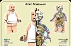 Anatomically-Correct Toys - Micro Schematic Lego Man