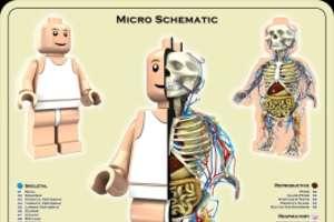 Micro Schematic Lego Man