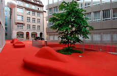 Permanent Outdoor Red Carpets