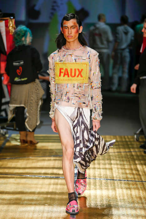 Decoupage Craft Fashion - The Latest MAISON the FAUX Runway Presentation is Artfully Daring