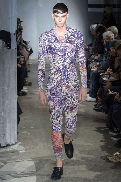 Tattoo Print Fashion - The Latest Comme des Garcons Collection is Inspired by Body Ink