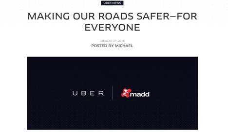 Charitable Ride Promotions - Uber and MADD Join Forces to Promote Road Safety During the Superbowl