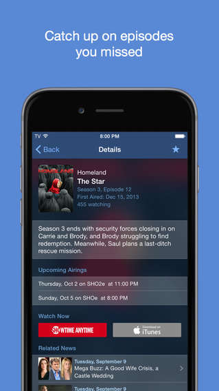 TV Tracker Apps - This TV Guide Mobile Tells You What's Coming Up and Where to Watch It