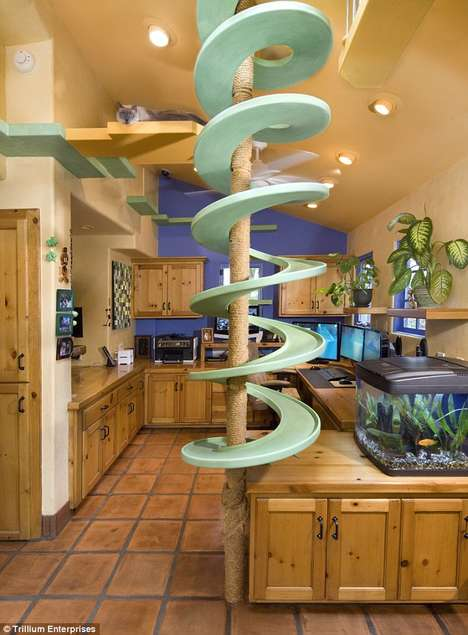 Feline-Oriented Home Makeovers - This Home by Peter Cohen is the Ultimate Playground for Cats