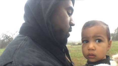 Father-Daughter Rap Videos - The Kanye West Only One Video is a Sentimental Clip with Daughter North