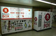 Parcel Pickup Lockers - Rakuten Lets Its Online Shoppers Pick Up Parcels from a Mall Collection Box