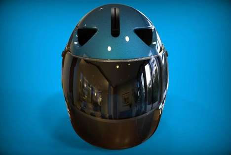 Aerodynamic Smart Helmets - The Nand Logic Smart Helmet Features Rear View Cameras and Turn Signals