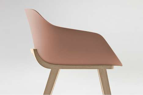 Biodegradable Furniture Designs - This Alki Eco Chair is Made out of a 100% Bioplastic Material